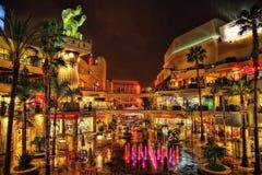 Kinesisk teater Los Angeles på natten royaltyfri foto