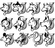 kinesisk teckenzodiac Fotografering för Bildbyråer