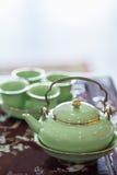 Kinesisk tekanna - materielbild Royaltyfri Bild