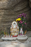 kinesisk tempel för En-mor gudinna i det Macao macau porslinet Royaltyfria Bilder