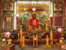 Kinesisk tempel i Bangkok, Thailand Arkivbild