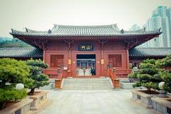 Kinesisk tempel i Hong Kong Arkivfoton