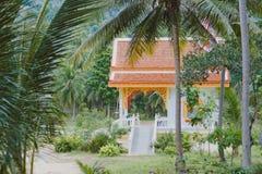 Kinesisk tempel i Kho Samui Royaltyfria Foton