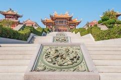 Kinesisk tempel i Macao Arkivfoton