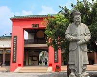 Kinesisk tempel i Shatin Arkivbild