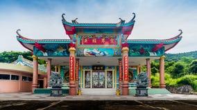 Kinesisk tempel i Sriracha, Chonburi, Thailand Fotografering för Bildbyråer