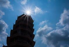 Kinesisk tempel i Thailand Arkivfoton