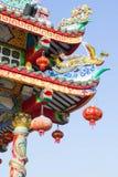 Kinesisk tempel och himmel, kinesisk kultur royaltyfri fotografi