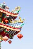 Kinesisk tempel och himmel, kinesisk kultur royaltyfri bild