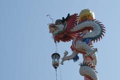 Kinesisk tempel på den Nonthaburi pir Royaltyfri Bild