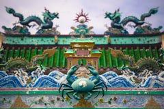 Kinesisk tempel på det kinesiska fiskeläget i Pulau Ketam nära Klang Selangor Malaysia royaltyfri foto