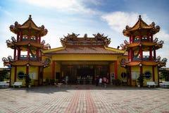 Kinesisk tempel på Sekinchan Royaltyfria Bilder