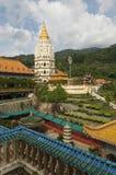 Kinesisk tempel, Penang, Malaysia arkivfoton