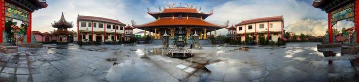 Kinesisk tempel, Sarawak Borneo Arkivbild