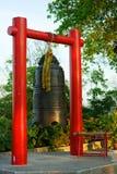 Kinesisk tempelklocka Royaltyfri Foto