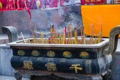 Kinesisk tempelrökelsegasbrännare Arkivfoton