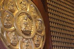 Kinesisk tempelvägg. Royaltyfri Bild