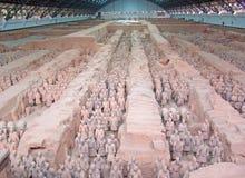 Kinesisk terra - cottakrigare Arkivfoto