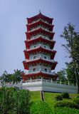 Kinesisk tornpagod i Singapore arkivbilder