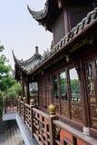 Kinesisk träpaviljong i forntida stil Royaltyfri Foto