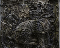 Kinesisk träskulptur arkivfoto