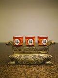 Kinesisk tradition ber objekt Fotografering för Bildbyråer