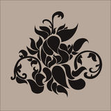 Kinesisk traditionell brun modell Stock Illustrationer