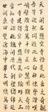 Kinesisk traditionell handskrift Royaltyfria Bilder