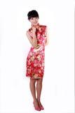 kinesisk traditionell klänningflicka Arkivfoto
