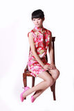 kinesisk traditionell klänningflicka Royaltyfri Bild