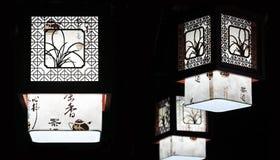 Kinesisk traditionell ljuskrona Arkivfoto