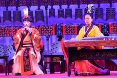 Kinesisk traditionell musikal och kulturell händelse fotografering för bildbyråer