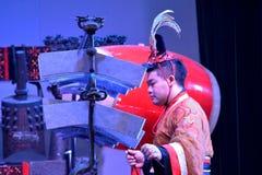 Kinesisk traditionell musikal och kulturell händelse arkivfoton