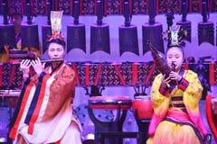Kinesisk traditionell musikal och kulturell händelse royaltyfri foto