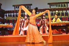 Kinesisk traditionell musikal och kulturell händelse royaltyfria foton