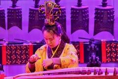 Kinesisk traditionell musikal och kulturell händelse royaltyfri bild