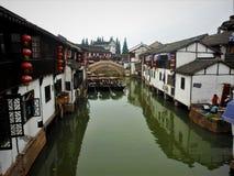 Kinesisk traditionell stad arkivbild