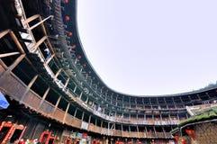 Kinesisk traditionell uppehålljordslott i bygd av det Fujian landskapet Arkivbilder