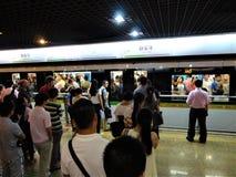 Kinesisk tunnelbana fotografering för bildbyråer