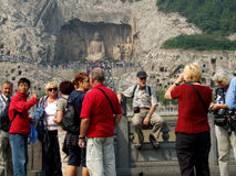 Kinesisk turism Arkivfoton