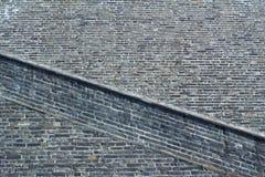Kinesisk vägg för forntida stad Arkivbild