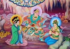 Kinesisk vägg- målning Royaltyfri Foto