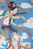 kinesisk väggmålning Arkivfoton