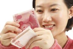 Kinesisk valuta Fotografering för Bildbyråer