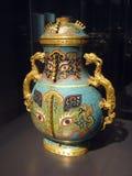 kinesisk vase Arkivfoton