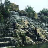 Kinesisk vattenfall Arkivbilder