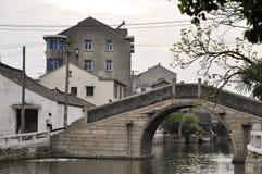 Kinesisk vattnig stad fotografering för bildbyråer