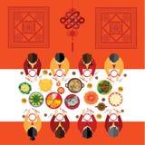 Kinesisk vektordesign för nytt år Arkivfoton