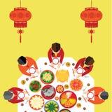 Kinesisk vektordesign för nytt år royaltyfri illustrationer