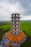 kinesisk wat för tempel för stye för kanchanaburikhaonoi Royaltyfri Foto
